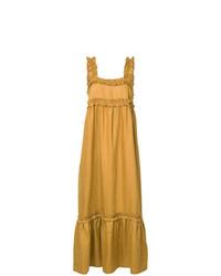 Robe longue moutarde Lee Mathews