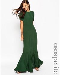 Robe longue vert foncé Asos
