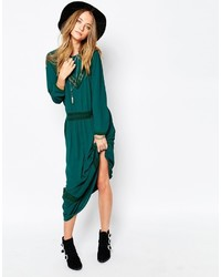 Robe longue vert foncé Gat Rimon