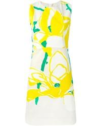 Robe midi à fleurs jaune Marni