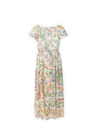 Robe midi à fleurs multicolore RED Valentino