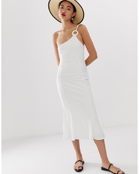 Robe midi blanche LOST INK