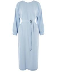 Robe midi bleue claire original 9943257
