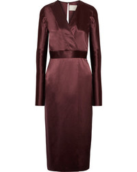 Robe midi bordeaux original 9931254