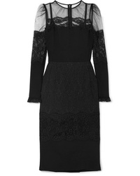 Robe midi de tulle noire Dolce & Gabbana