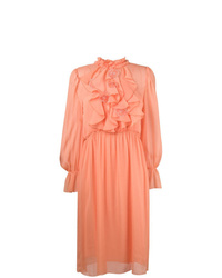 Robe midi en chiffon rose See by Chloe