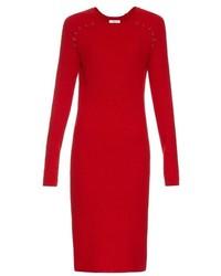 Robe midi en laine rouge