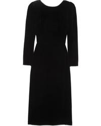 Robe midi en velours ornée noire Gucci