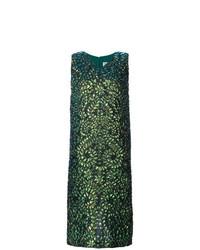 Robe midi imprimée vert foncé Maison Margiela