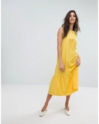 Robe midi jaune Mango