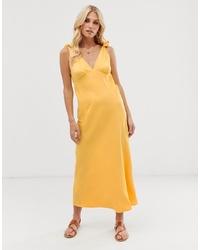Robe midi jaune Vero Moda