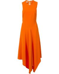 Robe midi orange