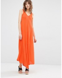 Robe midi orange Mango