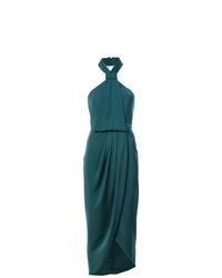 Robe midi plissée bleu canard Shona Joy