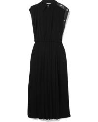 Robe midi plissée noire Givenchy