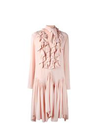 Robe midi plissée rose Chloé