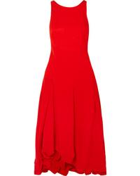 Robe midi plissée rouge 3.1 Phillip Lim
