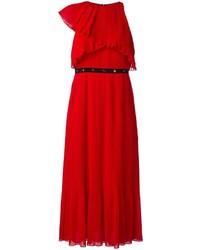 Robe midi plissée rouge Giamba