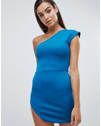 Robe moulante bleue Missguided