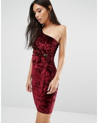 Robe moulante bordeaux Boohoo