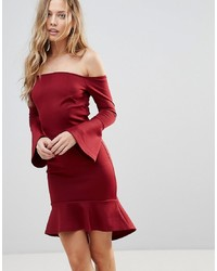 Robe moulante bordeaux Oh My Love