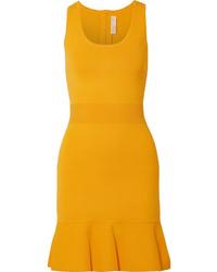 Robe moulante en tricot jaune MICHAEL Michael Kors