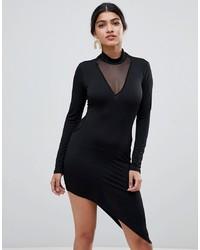 Robe moulante noire Glamorous