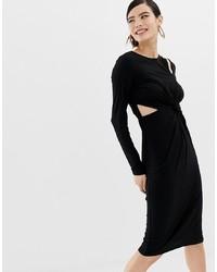 Robe moulante noire Miss Selfridge