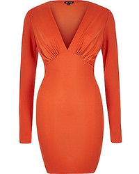 Robe moulante orange