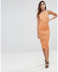 Robe moulante orange Asos