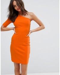 Robe moulante orange New Look