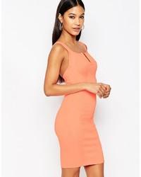Robe moulante orange Wow Couture