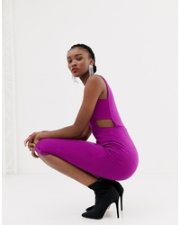 Robe moulante pourpre New Look