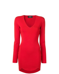 Robe moulante rouge Dsquared2