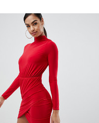 Robe moulante rouge Missguided