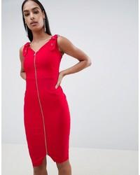 Robe moulante rouge Vesper