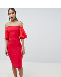 Robe moulante rouge Vesper Tall