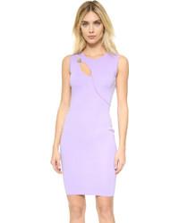Robe moulante violet clair Versace