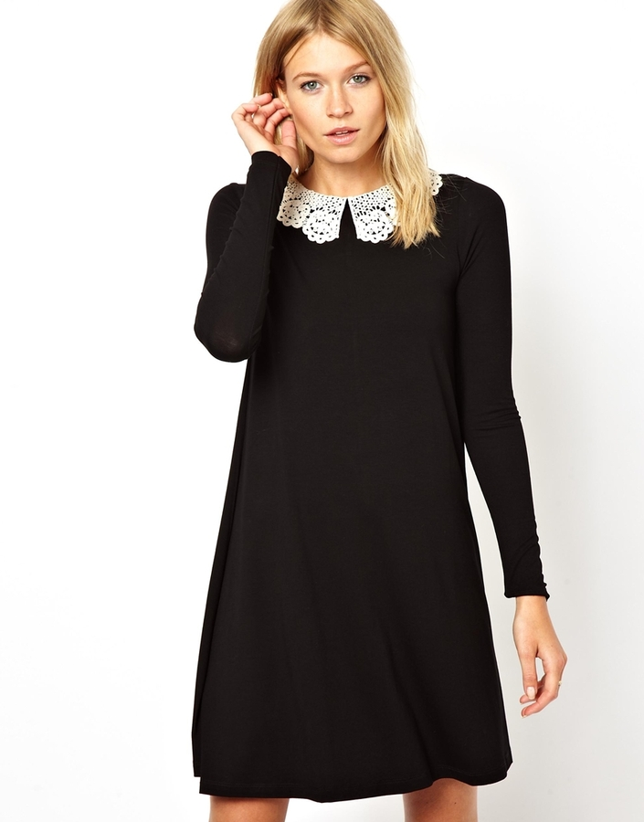 robe asos noire et blanche la mode des robes de france. Black Bedroom Furniture Sets. Home Design Ideas
