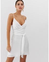 Robe nuisette blanche ASOS DESIGN