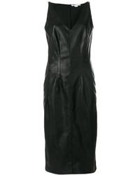 Robe nuisette en cuir noire Stella McCartney