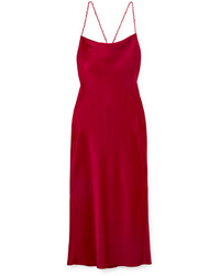Robe nuisette en satin rouge Jason Wu