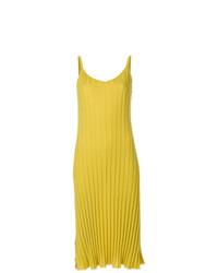 Robe nuisette en tricot jaune Marni