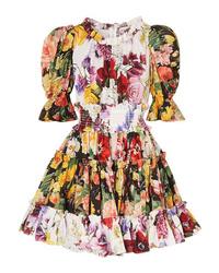 Robe patineuse à fleurs multicolore Dolce & Gabbana