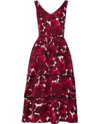 Robe patineuse à fleurs rouge Marc Jacobs
