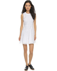 Robe patineuse en broderie anglaise blanche Madewell