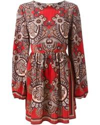 Robe patineuse imprimée rouge P.A.R.O.S.H.
