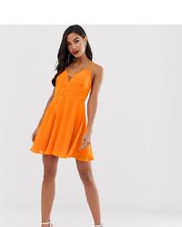 Robe patineuse orange ASOS DESIGN