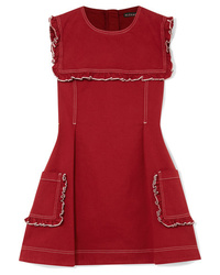 Robe patineuse rouge ALEXACHUNG