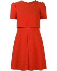 Robe patineuse rouge Alexander McQueen